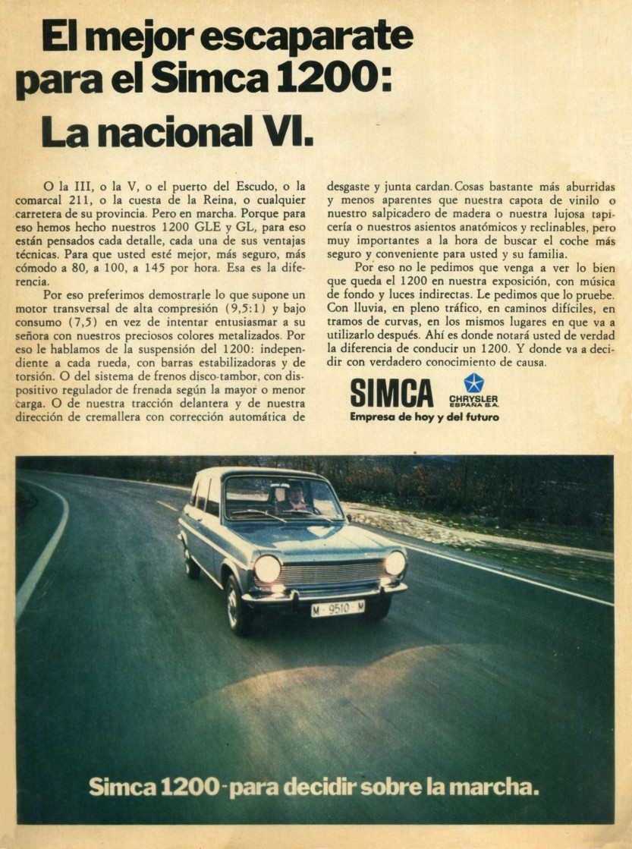 1973 Chrysler Simca 1200