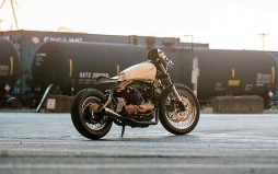 Yamaha XV920 custom de Blank Slate Cycles-001