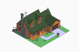 La casa de los Simpson estilo cabaña del bosque