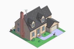 La casa de los Simpson estilo Cape Cod