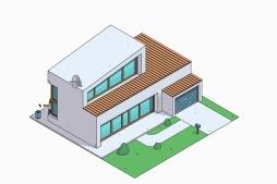 La casa de los Simpson estilo contemporaneo