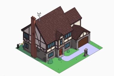 La casa de los Simpson estilo tudor