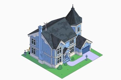 La casa de los Simpson estilo victoriano