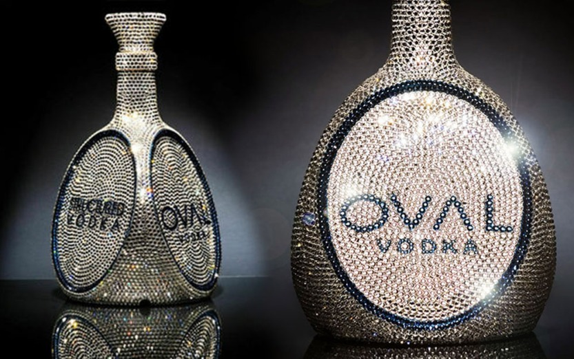 06 oval swarovski crystal vodka