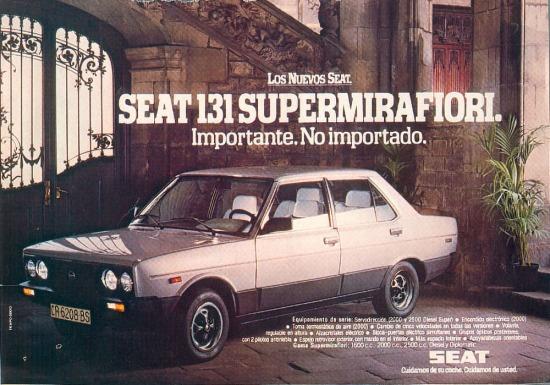 Seat 131 Supermirafiori